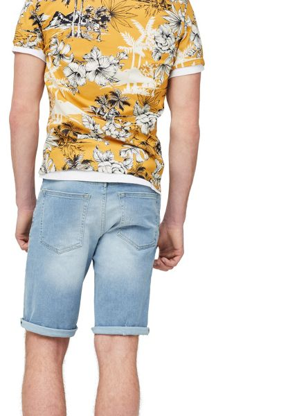 Mango Light wash denim bermuda shorts