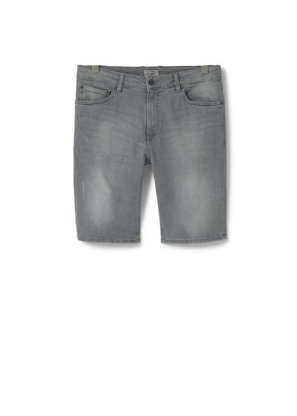 Mango Grey denim bermuda shorts