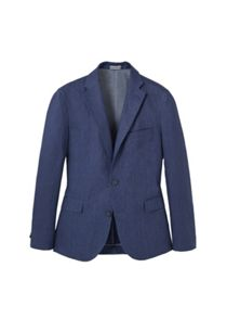 Mango Slim-Fit Linen Suit Blazer