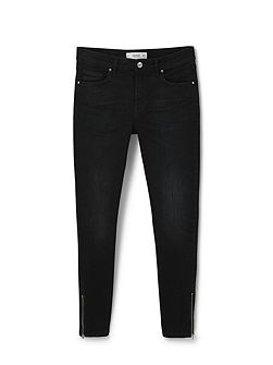 Skinny crop Tattoo jeans