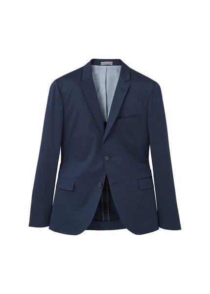 Mango Slim-fit poplin suit blazer
