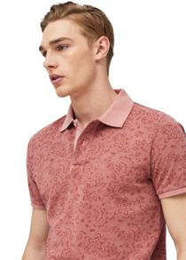 Mango Printed Polo Shirt