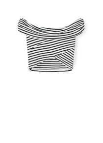 Mango Striped crop top