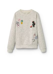 Mango Girls Embroidered cotton sweatshirt