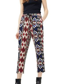 Mango Printed baggy trousers