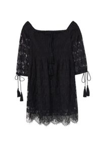 Mango Blond-lace panel dress