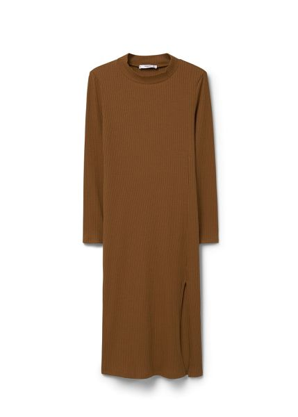 Mango Ribbed long dress