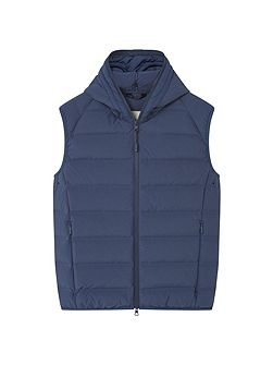 Quilted lightweight feather gilet