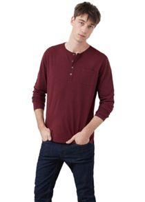 Mango Slub-cotton Henley t-shirt