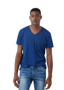 Mango V-neck cotton t-shirt