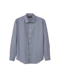Slim-fit micro houndstooth shirt