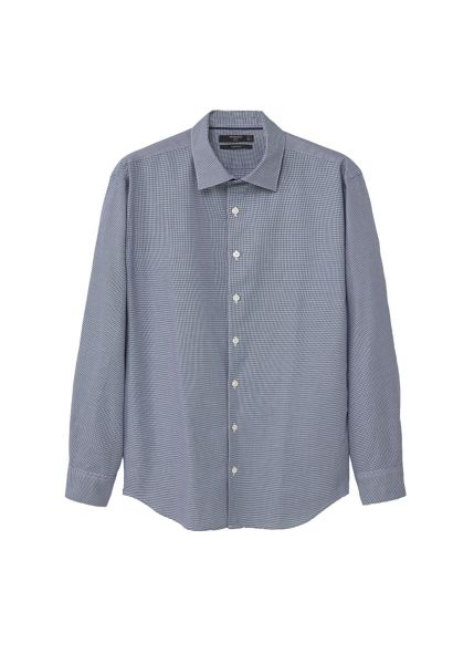 Mango Slim-fit micro houndstooth shirt