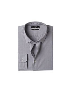 Slim-fit fine-stripe patterned shirt