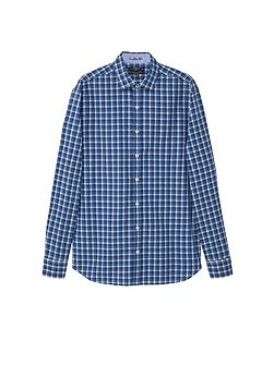 Slim-fit check cotton shirt