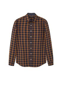 Mango Slim-fit madras check shirt