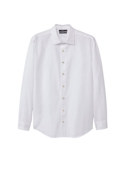 Mango Slim-fit cotton piqué shirt