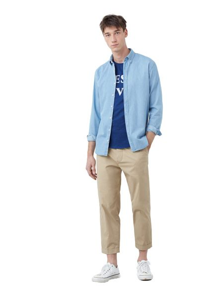 Mango Slim-fit chambray shirt