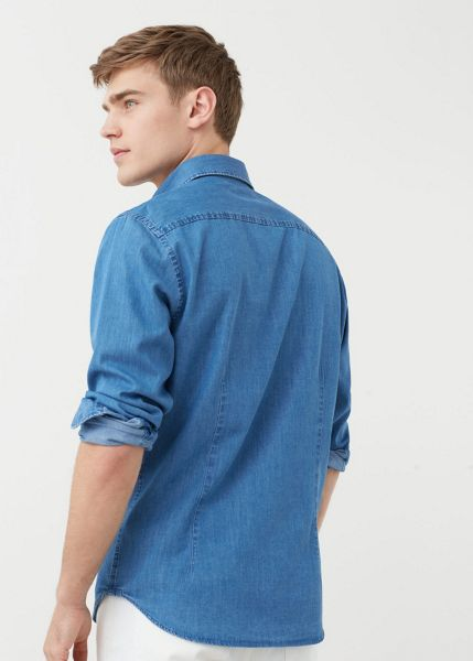 Mango Slim-fit medium denim shirt