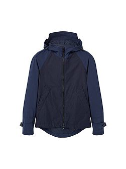 Incorporated-visor hooded jacket