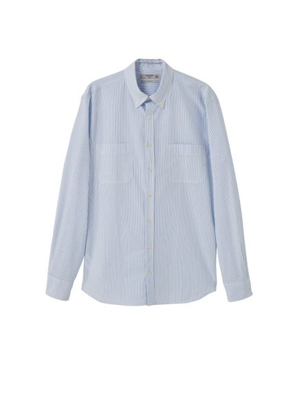 Mango Slim-fit bengal stripe shirt