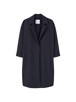 Lapel shift coat