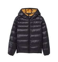 Mango Boys Quilted feather coat