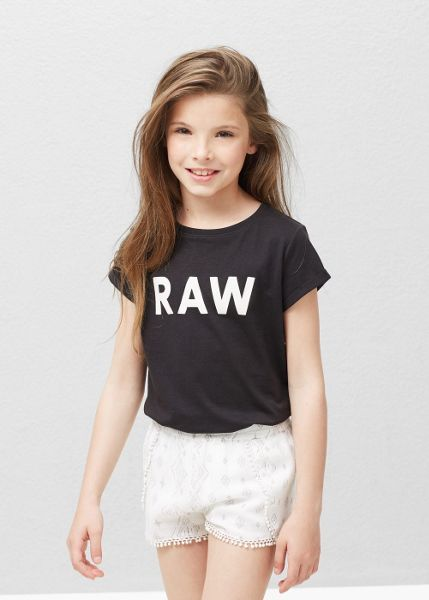 Mango Girls Slogan Cotton T-Shirt