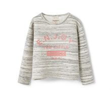 Mango Girls Flecked message sweatshirt