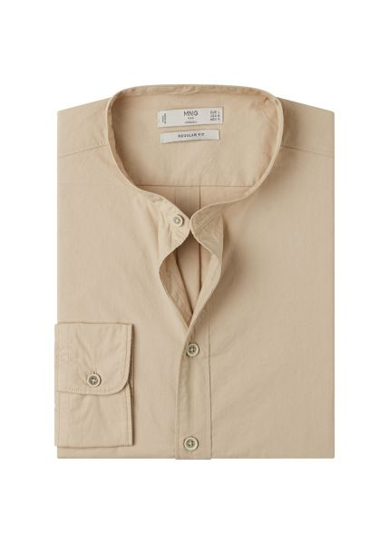 Mango Regular-fit mao collar shirt