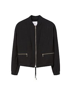 Zipped bomber jacket