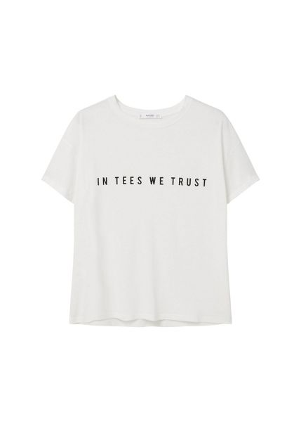 Mango Message cotton t-shirt