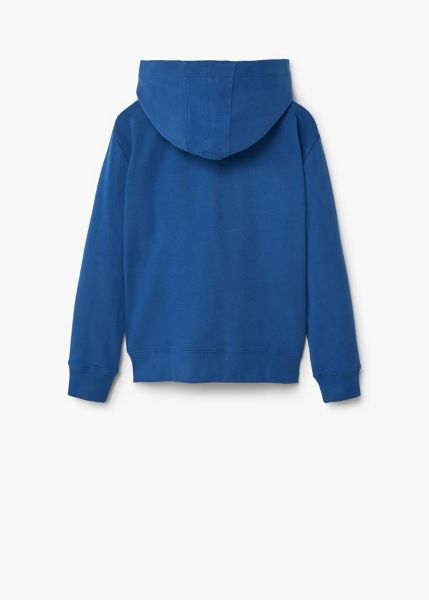 Mango Boys Embroidered cotton Zip-Up Hoodie