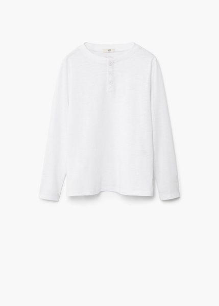 Mango Boys Buttoned cotton t-shirt