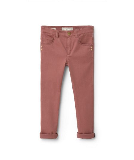 Mango Girls Skinny cotton trousers
