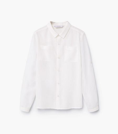 Mango Girls Lightweight chest-pocket shirt