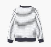 Mango Boys Striped cotton-blend sweatshirt