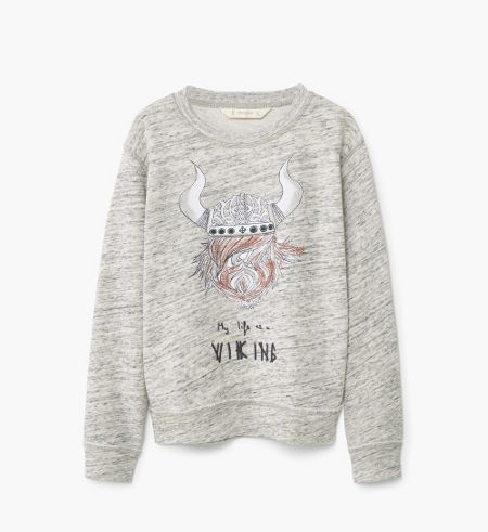 Mango Boys Viking Cotton Sweatshirt