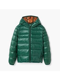 Boys Quilted feather coat