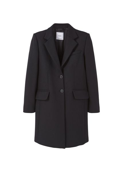 Mango Wool straight-cut coat