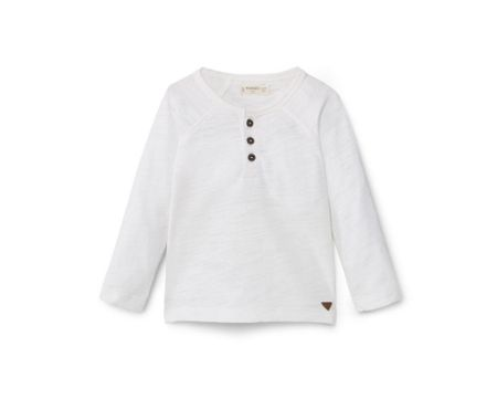 Mango Buttoned cotton t-shirt