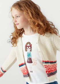 Mango Girls Chunky knit cardigan