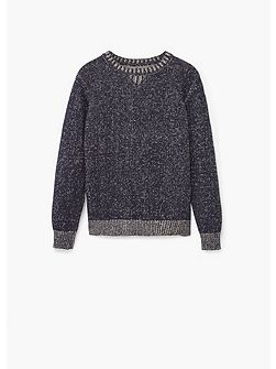 Boys Flecked cotton-blend sweater