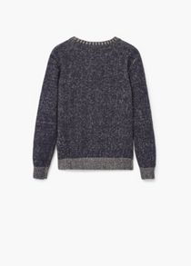 Mango Boys Flecked cotton-blend sweater