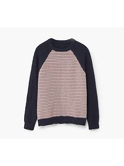 Boys Elbow-patch cotton sweater