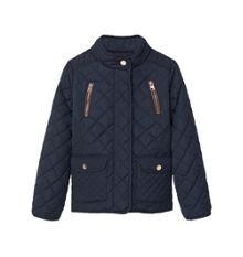 Mango Girls Side-zip quilted coat