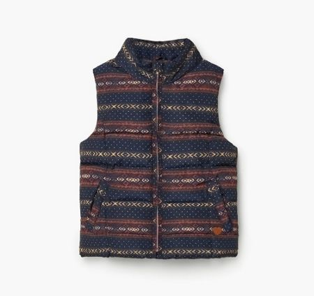 Mango Girls Printed quilted gilet