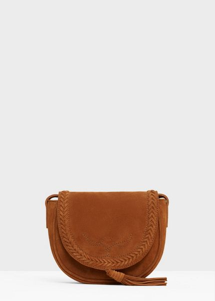 Mango Leather Cross Body Bag