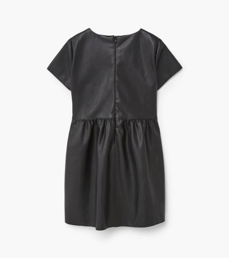 Mango Girls Faux-leather dress