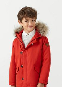 Mango Boys Faux fur hood coat