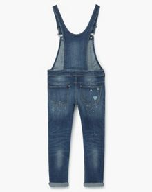 Mango Girls Dark denim dungarees